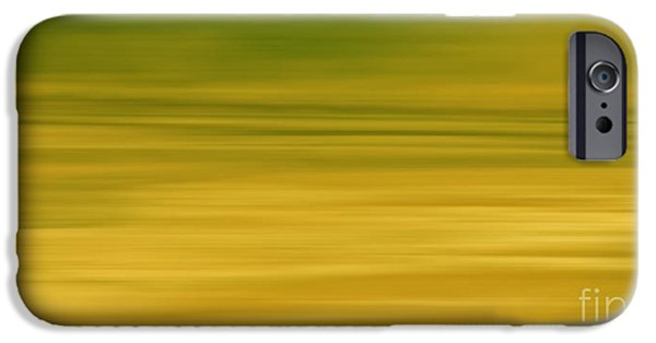 Electronic iPhone Cases - Abstract Earth Motion Lemon Grass iPhone Case by Linsey Williams