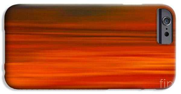 Electronic iPhone Cases - Abstract Earth Motion Sun Burnt iPhone Case by Linsey Williams