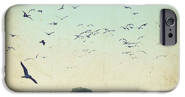 Flying Seagull iPhone Cases - Earth Music iPhone Case by Lupen  Grainne