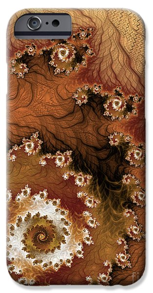 Geometric Effect iPhone Cases - Earth Rhythms iPhone Case by Heidi Smith