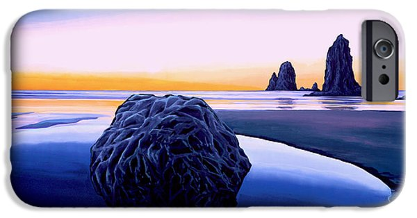 Pastel Paintings iPhone Cases - Earth Sunrise iPhone Case by Paul Meijering