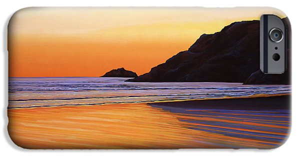Evening Paintings iPhone Cases - Earth Sunrise Sea iPhone Case by Paul  Meijering