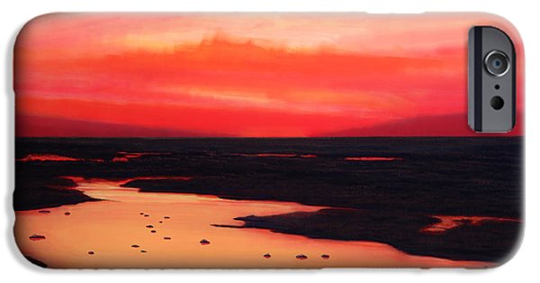 Pastel Paintings iPhone Cases - Earth Swamp iPhone Case by Paul Meijering