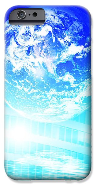 Earth technology background iPhone Case by Michal Bednarek