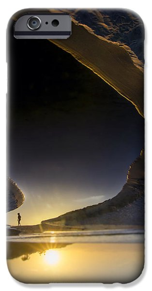 Jogging iPhone Cases - Earth Walker iPhone Case by Sean Foster