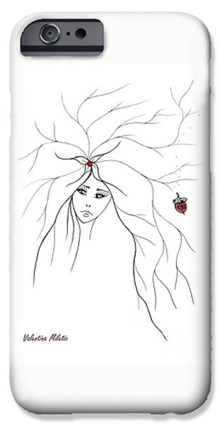 Woman iPhone Cases - Earth Woman 11 iPhone Case by Valentina Miletic