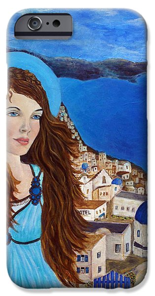 Spiritual Portrait Of Woman iPhone Cases - Earthangel Athena iPhone Case by The Art With A Heart By Charlotte Phillips