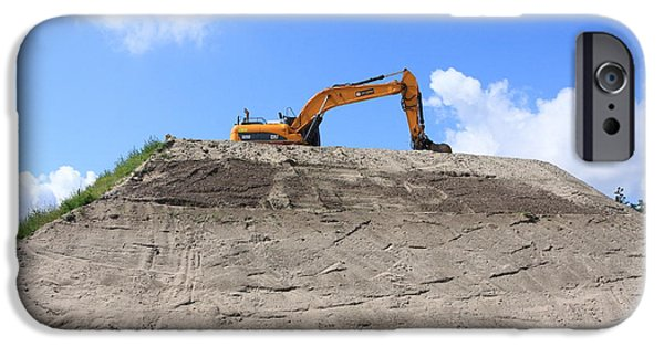 Mounds iPhone Cases - Earthmover iPhone Case by Aidan Moran