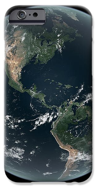Earths Western Hemisphere With Rise iPhone Case by Walter Myers