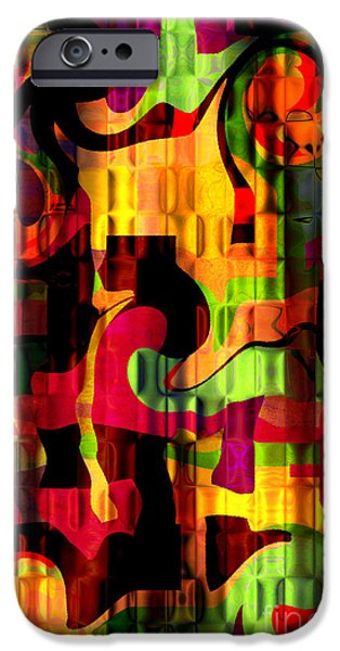 Concept Mixed Media iPhone Cases - Earthy Abstract iPhone Case by Andee Design