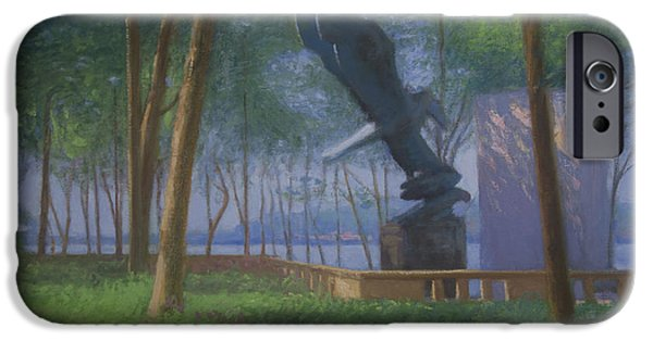 Park Scene Paintings iPhone Cases - East Coast iPhone Case by Walter Lynn Mosley