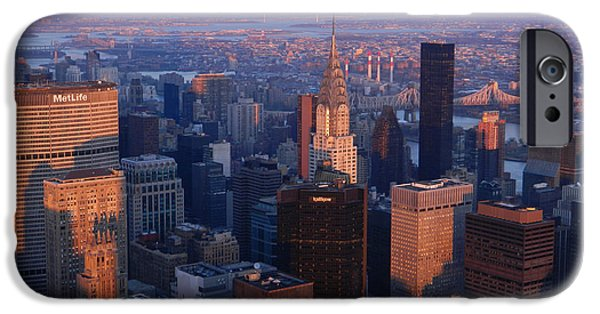 Empire State iPhone Cases - East Coast Wonder Aerial View iPhone Case by Emmy Marie Vickers