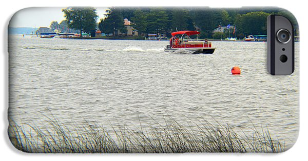Fed iPhone Cases - East Cove Lake Wawasee iPhone Case by Tina M Wenger