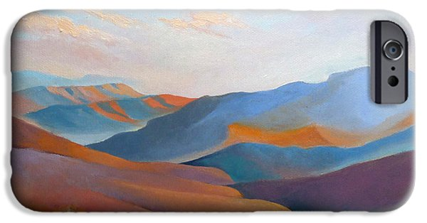 Nature Abstracts iPhone Cases - East Fall Blue Ridge No.3 iPhone Case by Catherine Twomey