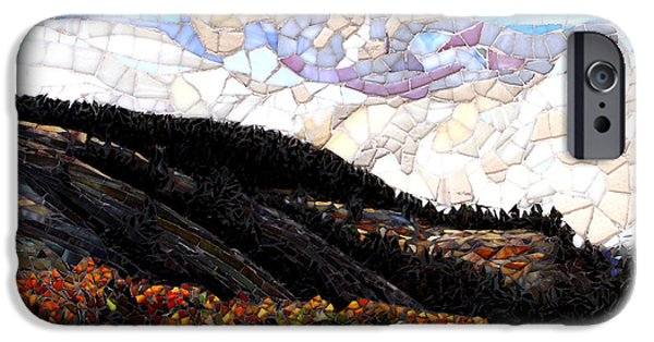 Autumn Landscape Glass iPhone Cases - East of the Summit iPhone Case by Sandra Bryant