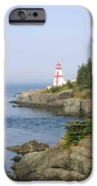 East Quoddy Lighthouse iPhone Cases - East Quoddy Head Lighthouse iPhone Case by Victoria  Dauphinee