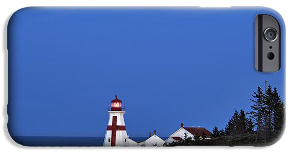 East Quoddy Lighthouse iPhone Cases - East Quoddy Lighthouse - D002160 iPhone Case by Daniel Dempster