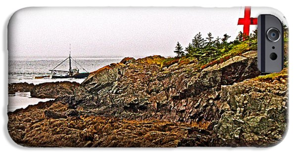 East Quoddy Lighthouse iPhone Cases - East Quoddy Lighthouse on Campobello Island-New Brunswick  iPhone Case by Ruth Hager