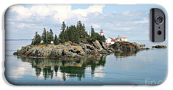 East Quoddy Lighthouse iPhone Cases - East Quoddy LIghthouse Summer Afternoon iPhone Case by Brenda McGee-Paap