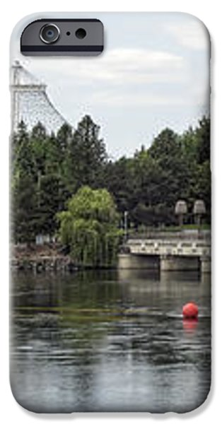 East RIVERFRONT PARK and DAM - SPOKANE WASHINGTON iPhone Case by Daniel Hagerman
