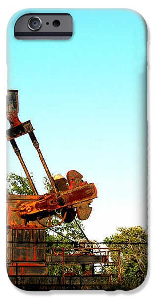 East Texas Oil Field iPhone Case by Kathy  White