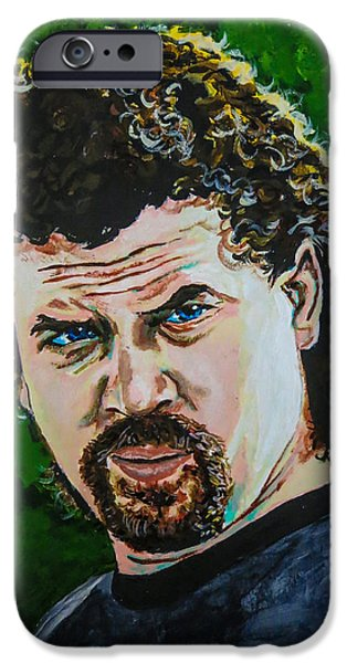 Danny Mcbride iPhone Cases - Eastbound and Down iPhone Case by Joel Tesch