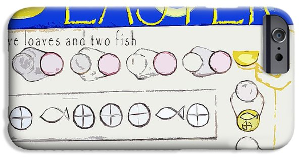 Loaves And Fish iPhone Cases - Easter 17 iPhone Case by Patrick J Murphy