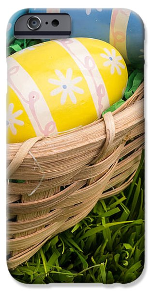 Easter Basket iPhone Case by Edward Fielding