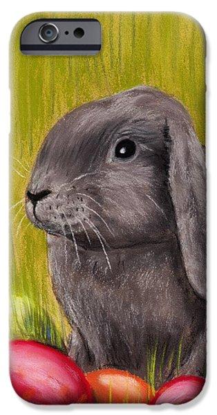 Easter Bunny iPhone Case by Anastasiya Malakhova