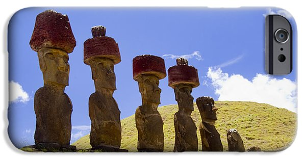 Historic Site iPhone Cases - Easter Island Statues  iPhone Case by David Smith