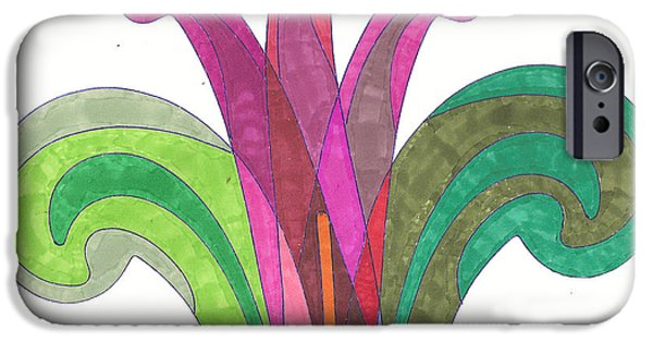 Flora Drawings iPhone Cases - Easter Lily iPhone Case by Sara LaMothe