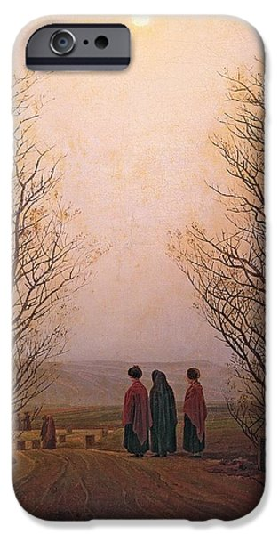 Romanticism iPhone Cases - Easter Morning, 1833 Oil On Canvas iPhone Case by Caspar David Friedrich