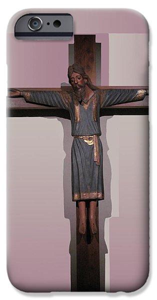 Small iPhone Cases - Easter Pasqua Croce di Gesu Cross of Jesus iPhone Case by Suzanne Giuriati-Cerny