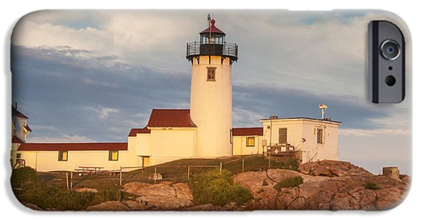 New England Lighthouse iPhone Cases - Eastern Point Lighthouse iPhone Case by Juli Scalzi