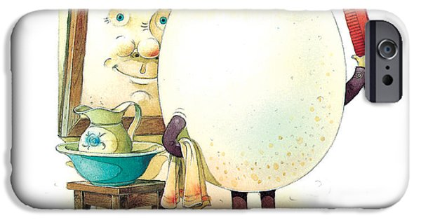 Morning Drawings iPhone Cases - Eastereggs 06 iPhone Case by Kestutis Kasparavicius