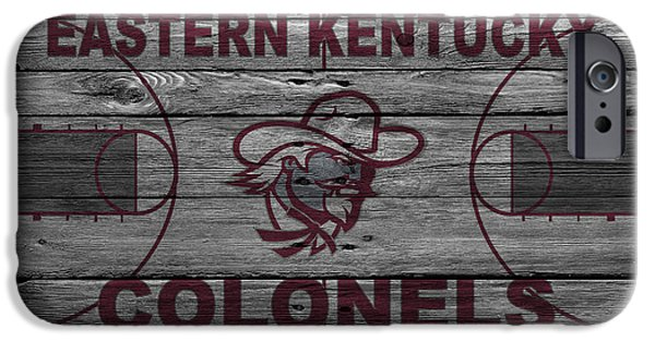 Dunk iPhone Cases - Eastern Kentucky Colonels iPhone Case by Joe Hamilton