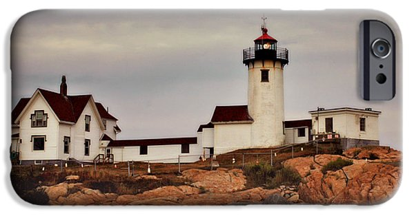 New England Lighthouse iPhone Cases - Eastern Point Lighthouse iPhone Case by Joann Vitali