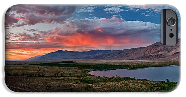 Sunset iPhone Cases - Eastern Sierra Sunset iPhone Case by Cat Connor