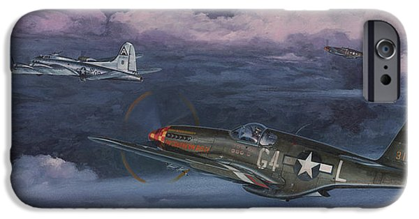 P-51 Mustang iPhone Cases - Easy Big Friend iPhone Case by Wade Meyers