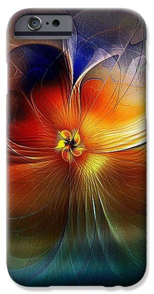 Floral Digital Art Digital Art iPhone Cases - Easy Like Sunday Morning iPhone Case by Amanda Moore