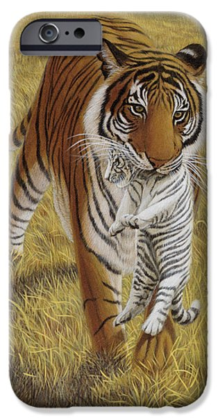 Animals Jewelry iPhone Cases - Easy Rider iPhone Case by Michael Phillips