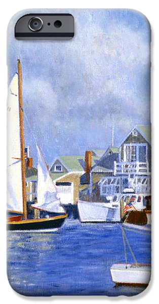 Easy Street Basin Blues iPhone Case by Candace Lovely