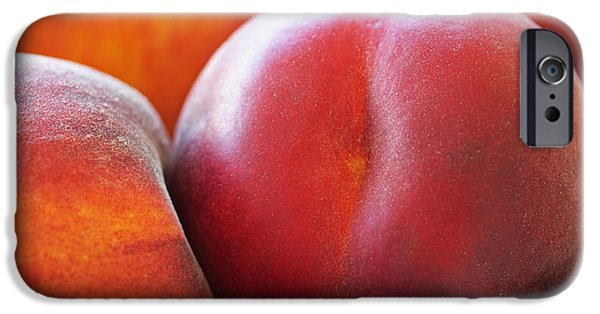 Beautiful iPhone Cases - Eat a Peach iPhone Case by Rona Black