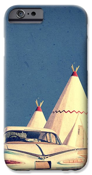 Motif iPhone Cases - Eat and Sleep in a Wigwam iPhone Case by Edward Fielding