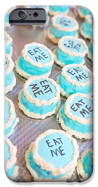 Tea Party iPhone Cases - Eat Me iPhone Case by Susie Talman