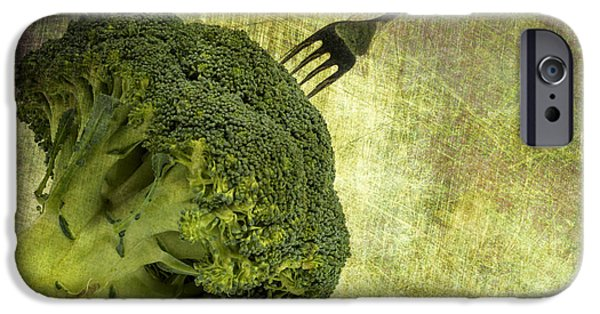 Stainless Steel Digital iPhone Cases - Eat your broccoli iPhone Case by Patricia Hofmeester