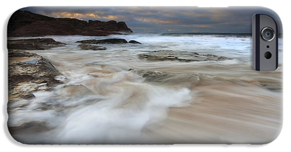Knights Beach iPhone Cases - Ebbtide Sunrise iPhone Case by Mike Dawson