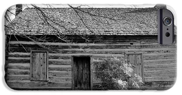 Cabin Window iPhone Cases - Ebenezer Academy  iPhone Case by Cynthia Guinn