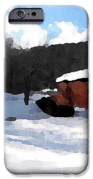 Ebenezer Bridge in Winter iPhone Case by Spencer McKain