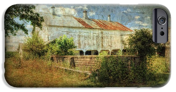 Old Barns iPhone Cases - Eberts Old Barn iPhone Case by Pamela Baker